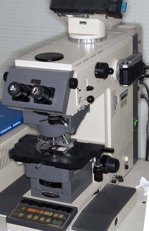 Olympus Vanox-T AH2 microscope with original 35mm film camera [Armstrong]