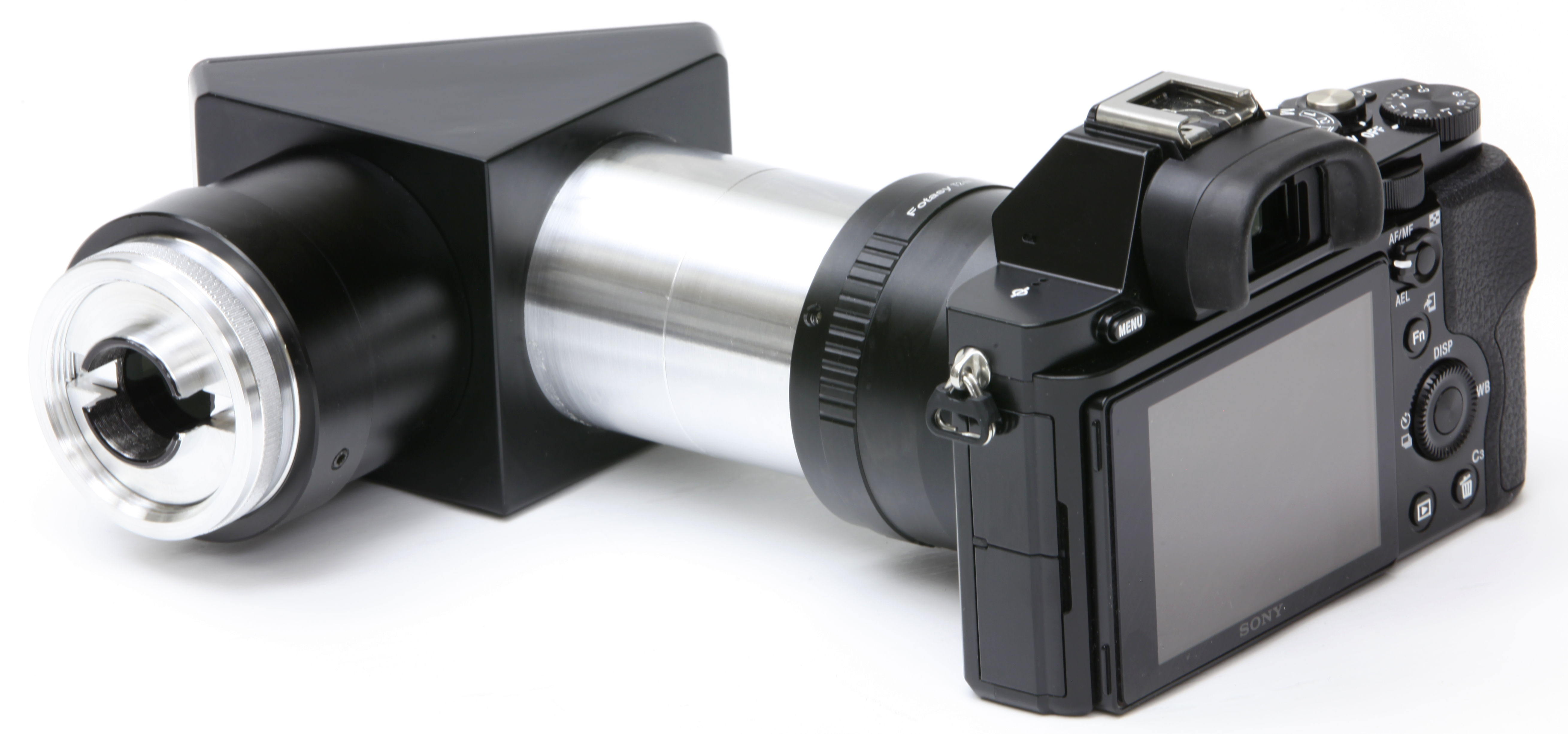 Digital camera adapter for the Haag-Streit BQ900 and full-frame cameras