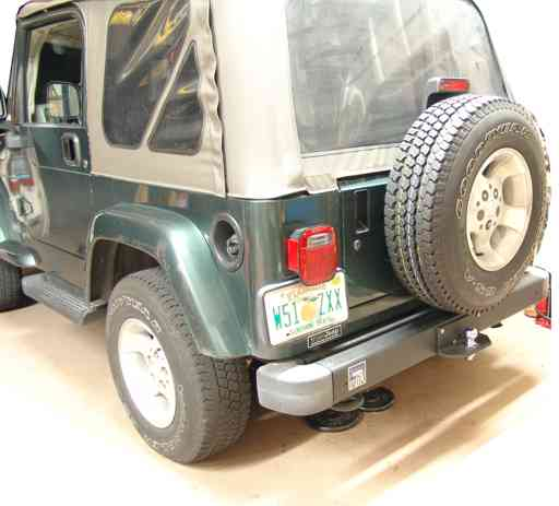 Jeep hitch overall view