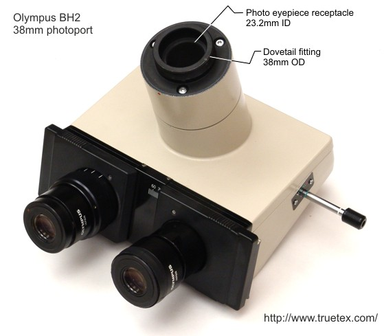 Olympus 38mm photoport as used on the Olympus BH2 microscope
