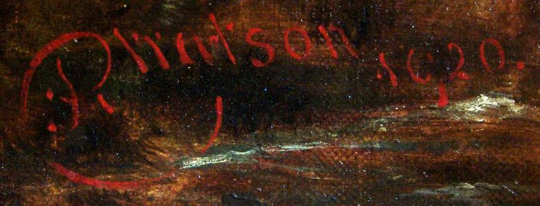 Richard Watson, English landscape painter, 1840-1921, signature specimen