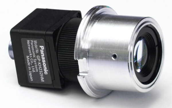 Zeiss OPMI to C-mount adapter with Panasonic GP-KH232 HD camera