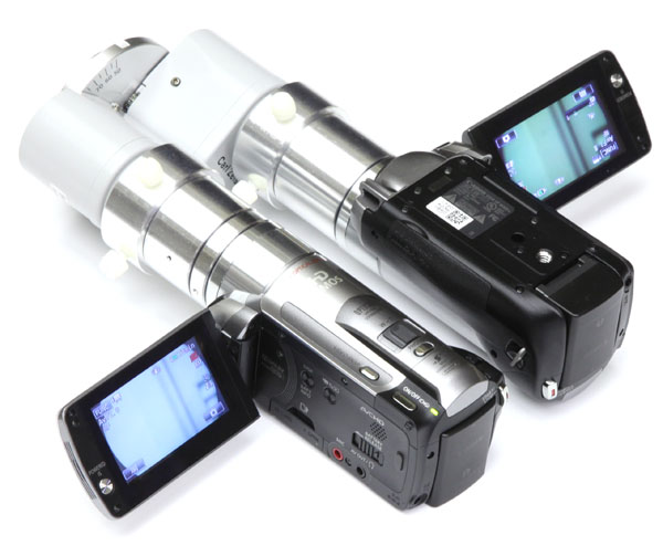 Zeiss OPMI binocular with two HD video camera adapters and Canon HD video cameras, for 3D stereo video